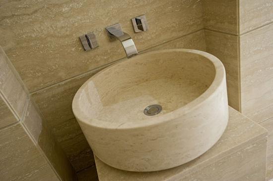 Travertine sinks