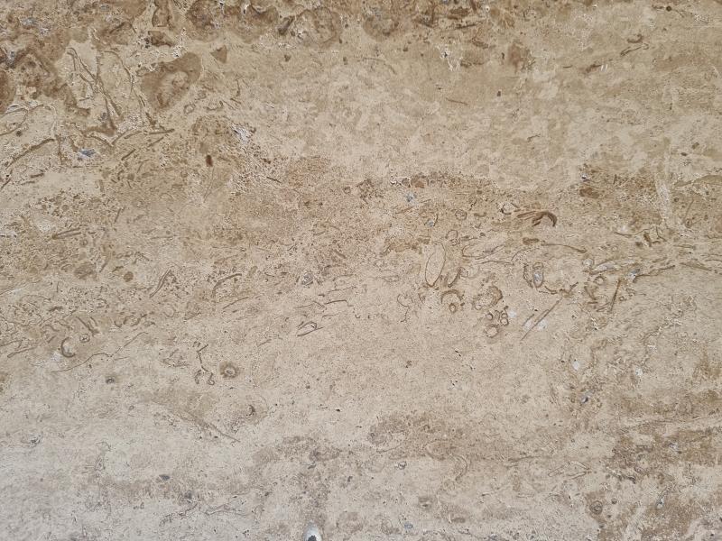 Стъпала от полиран травертин лате  130см / 33см / 2см